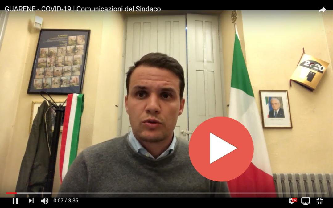 COVID-19 > Messaggio video n.02 del Sindaco