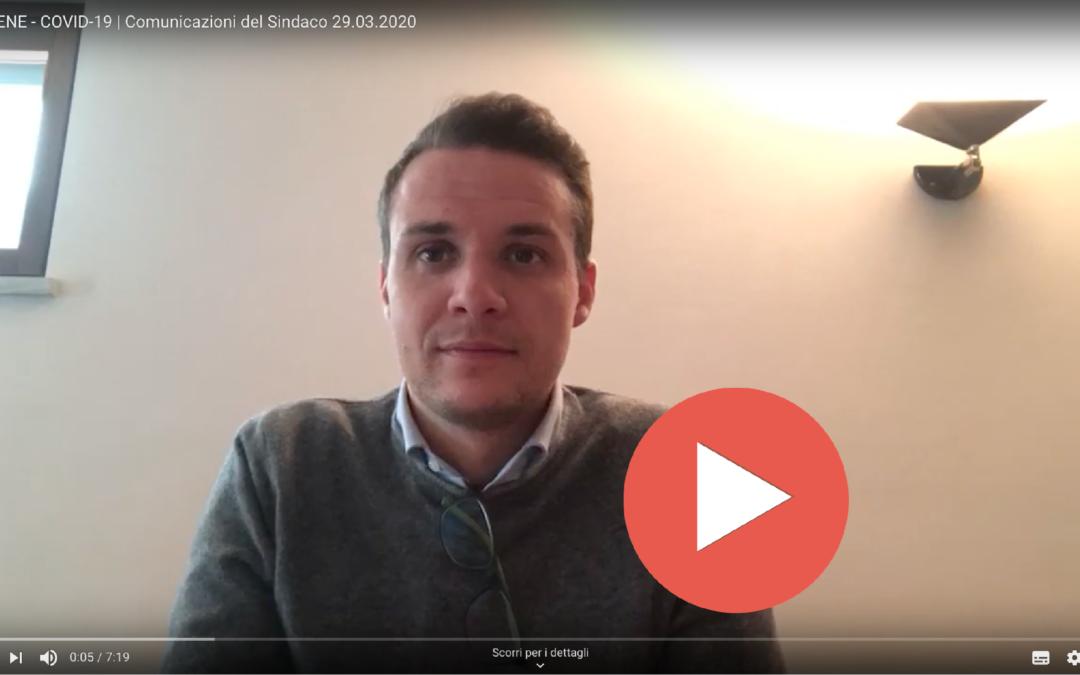 COVID-19 > Messaggio video n.03 del Sindaco