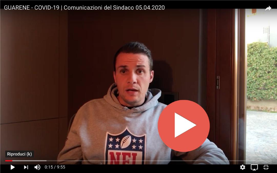 COVID-19 > Messaggio video n.04 del Sindaco